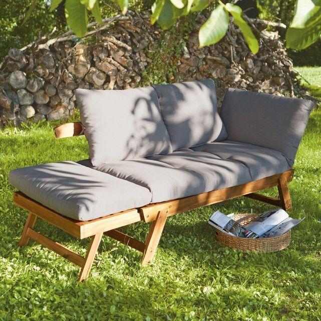 Canapé de jardin acacia, Céléna Acacia