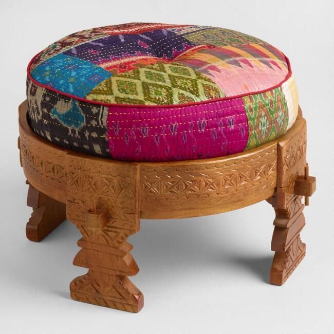 Bajot Stool With Sari Pouf Multi By World Market In 2019