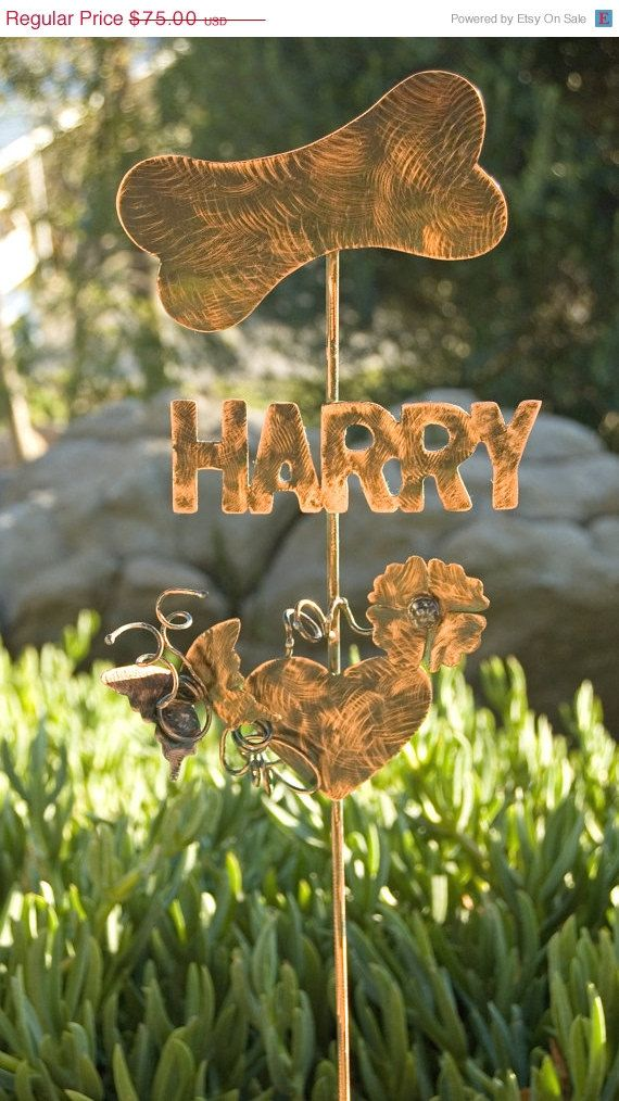 SAMPLE DOG Bone NAME Plate Flower Butterfly Heart Pet