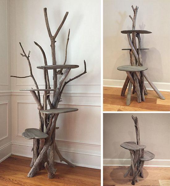 Elegant Driftwood Cat Trees Hauspanther Unique Cat Trees Diy