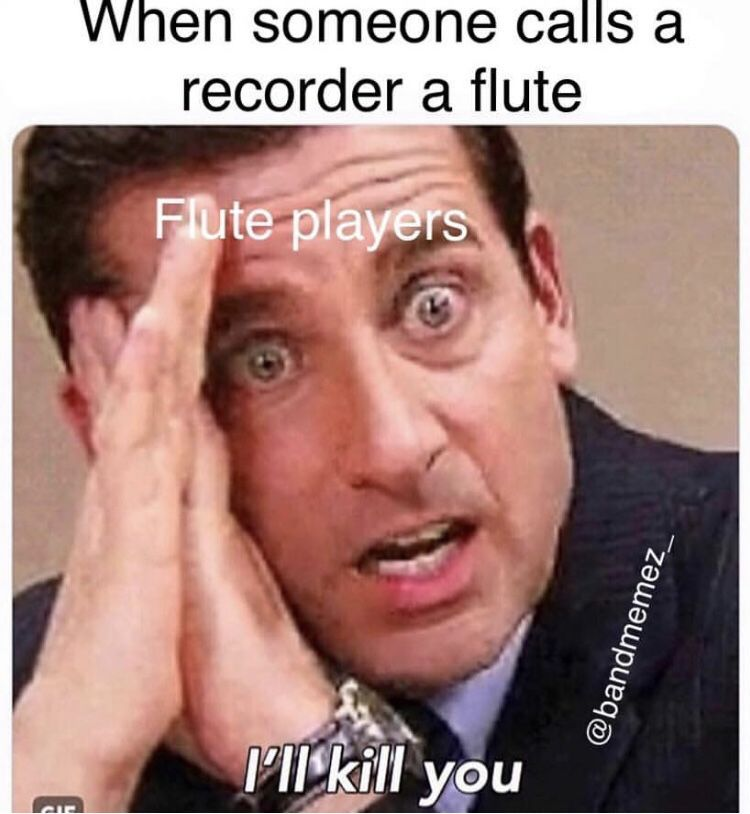 Piano/Flute Notes - Band Memes: Flute Edition | Funny band ...