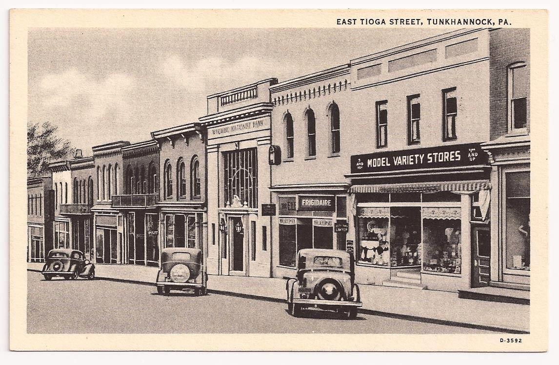 Tunkhannock, PA ~ East Tioga street,Pennsylvania Postcard ... : airing of the quilts tunkhannock pa - Adamdwight.com