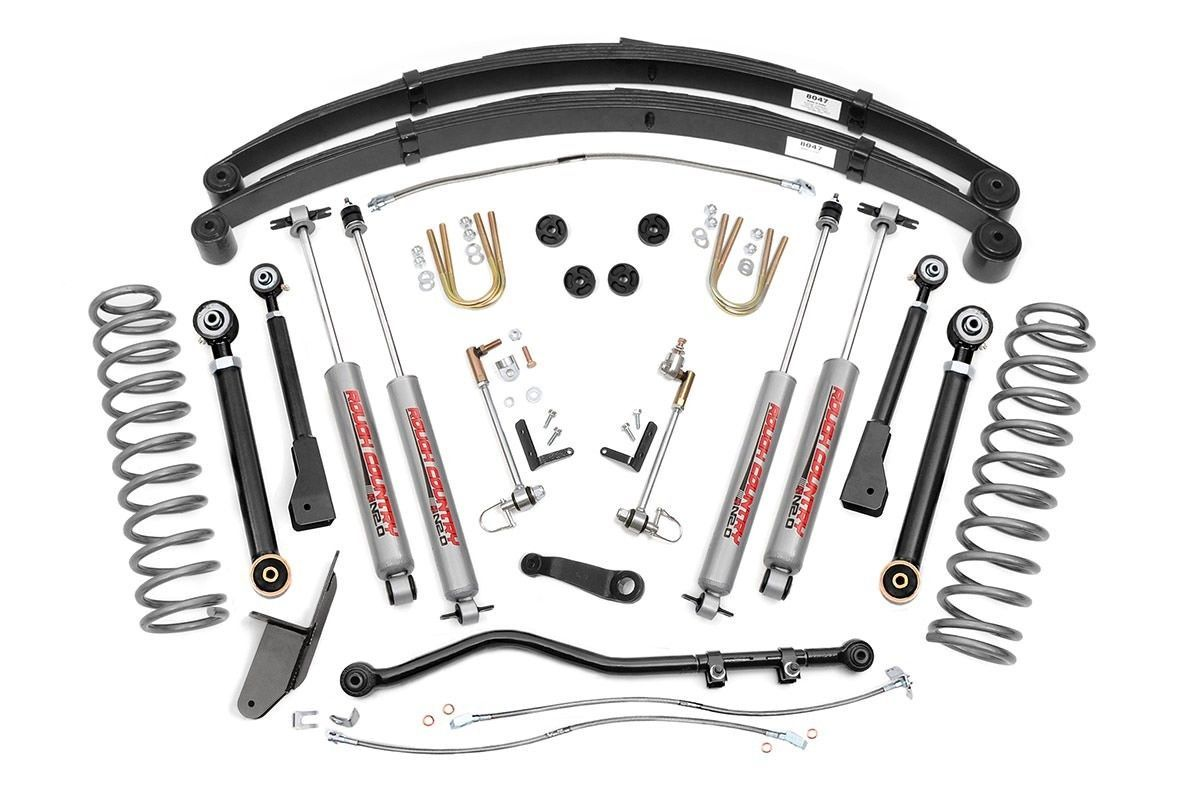 Rough Country 4 5 X Series Suspension Lift Kit Jeep Xj Cherokee 84 01 4 0l 2 5l Soldadura
