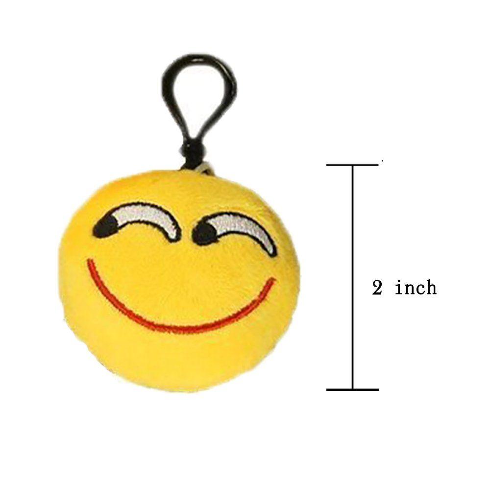 Diy halloween decorations budi pcs emoji plush pillow keychain