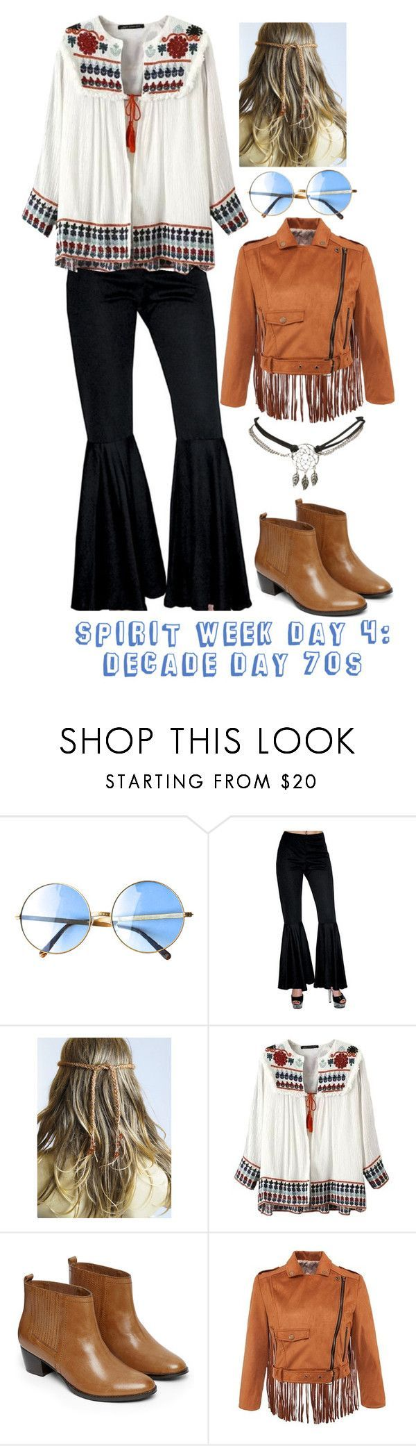 Spirit week day 4: Decade Day 70s by nialls-princess-megan on Polyvore featuring... #characterdayspiritweek