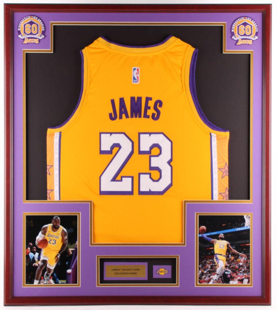 LeBron James 32x36 Custom Framed Jersey Display with
