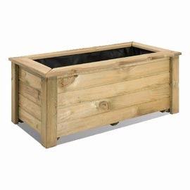 93 euros Jardinière en bois naturel. Existe en plusieurs dimensions. <br><b>Frais de port offerts !</b>