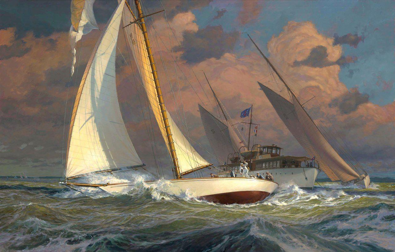 художник Russ Kramer 12 fotek VK Marine artist
