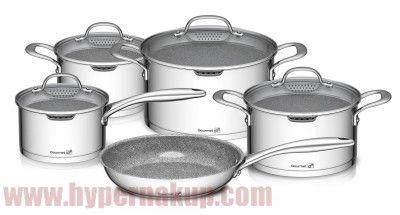 adbf780b1930c Sada hrncov Gourmet Miracle Nerez+GREBLON® C3 9-dielna | BÝVANIE DOMÁCNOSŤ  - HYPERNAKUP.COM | Kitchen Appliances, Crockpot a Slow cooker