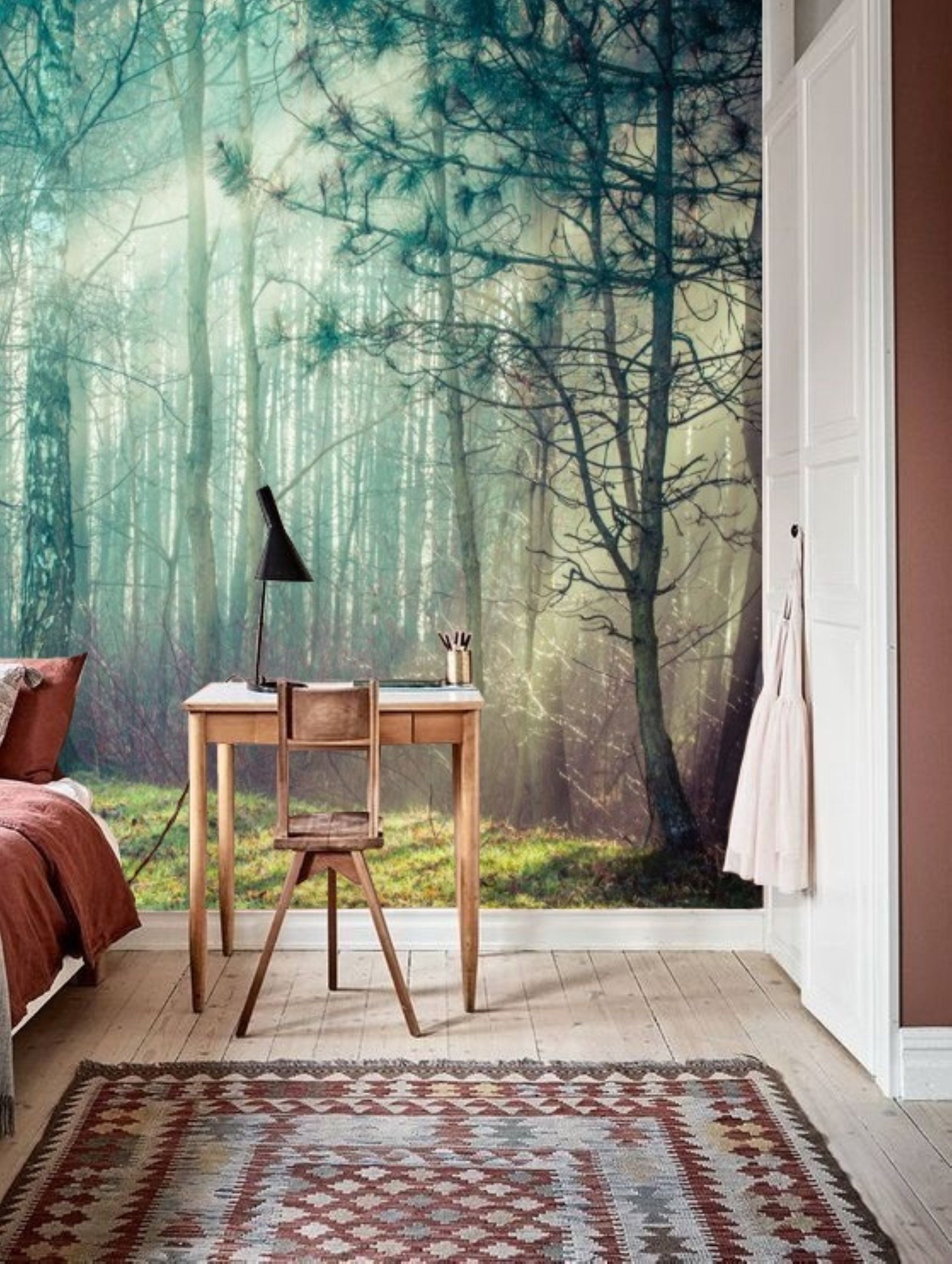Forest Wall Mural Removable Wallpaper Forest Mural Peel