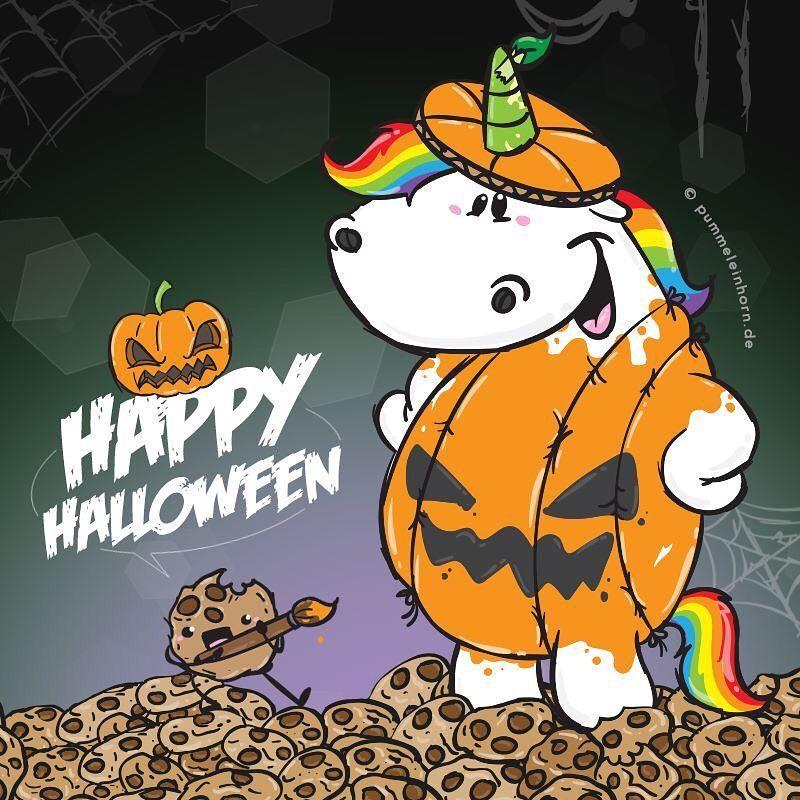 Happy Halloween Pummeleinhorn Halloween Grusse Frohliches Halloween Halloween Spruche