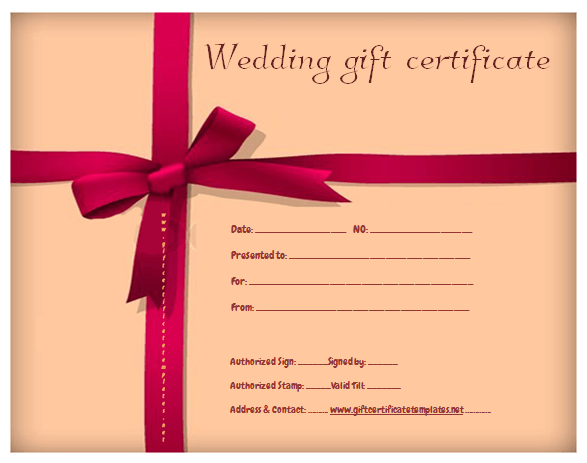 Red Ribbon Gift Certificate Template Beautiful Printable Gift