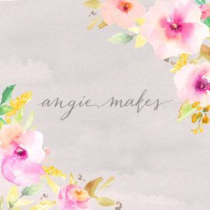 Cute Gray and Pink Watercolor Floral Background - Angie Makes Stock Shop