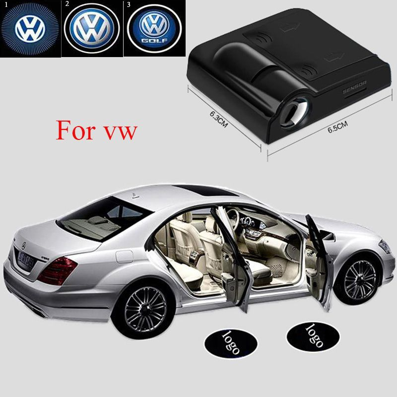 2pcs Wireless Car Projector Light Car Logo Door Light For VW Polo Passat B5 Passat B6 & Door Light Logos \u0026 GTR Lighting LED Logo Projectors Toyota Logo #24 ...