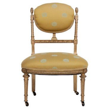 Check out this item at One Kings Lane! Louis XVI-Style Gilded Parlor Chair