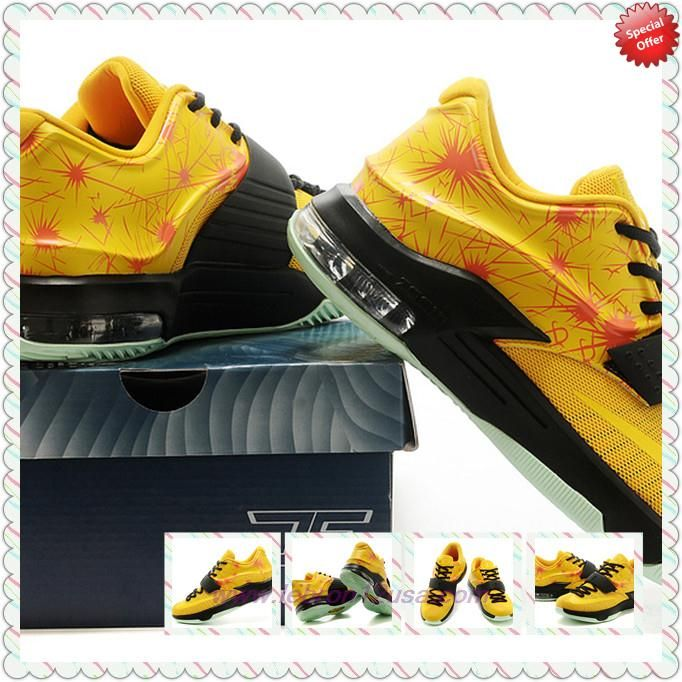 low priced ed00e 1c2d1 KDVII-011 Yellow Nike KD VII Mens Online Outlet