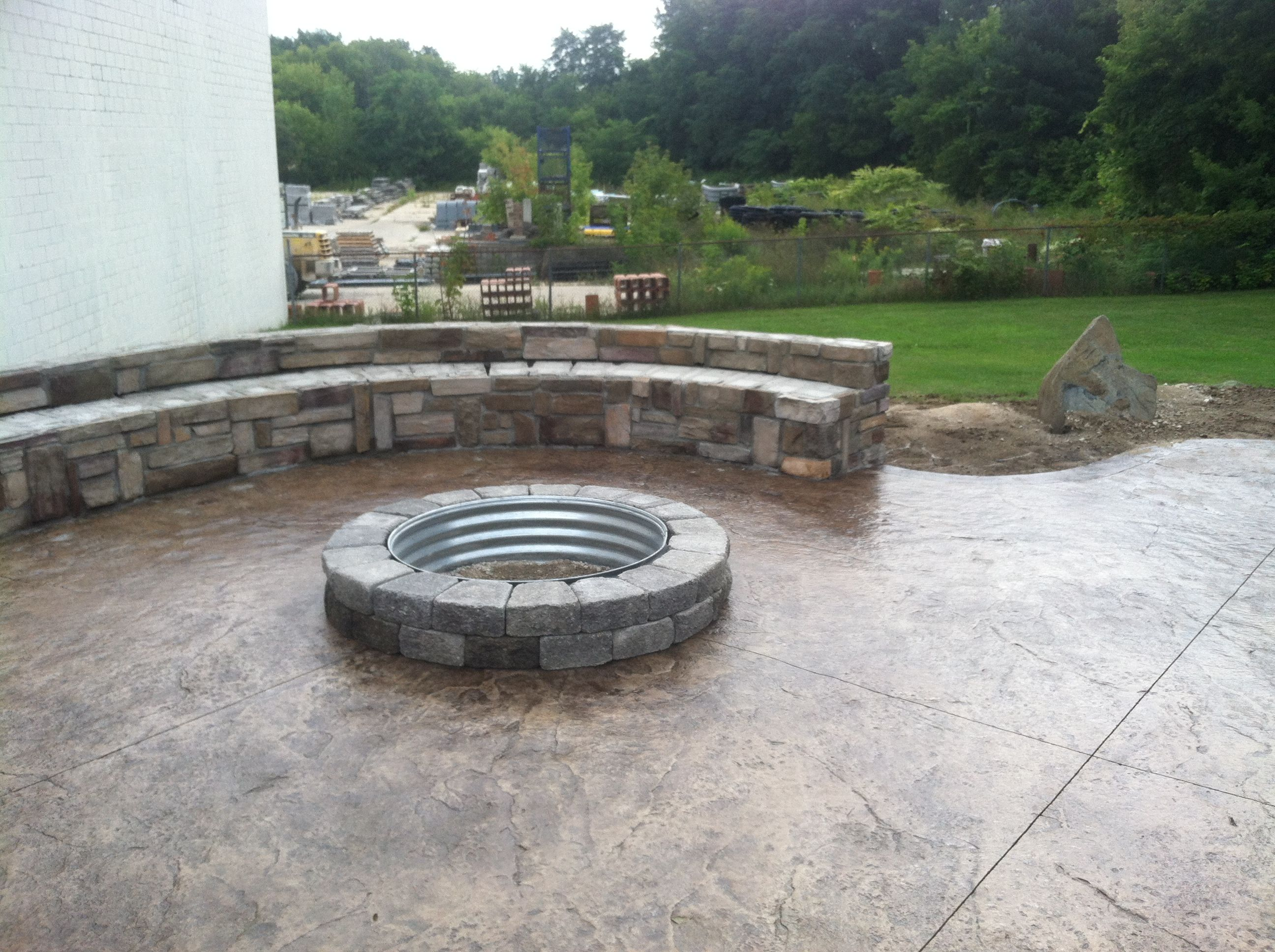Theut Products, Inc. - New Built in Firepit at our Romeo ...