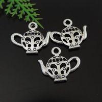 40 шт. античная сплав серебра ювелирные изделия аксессуары полые чайник шарма 39444 изготовление ювелирных изделий