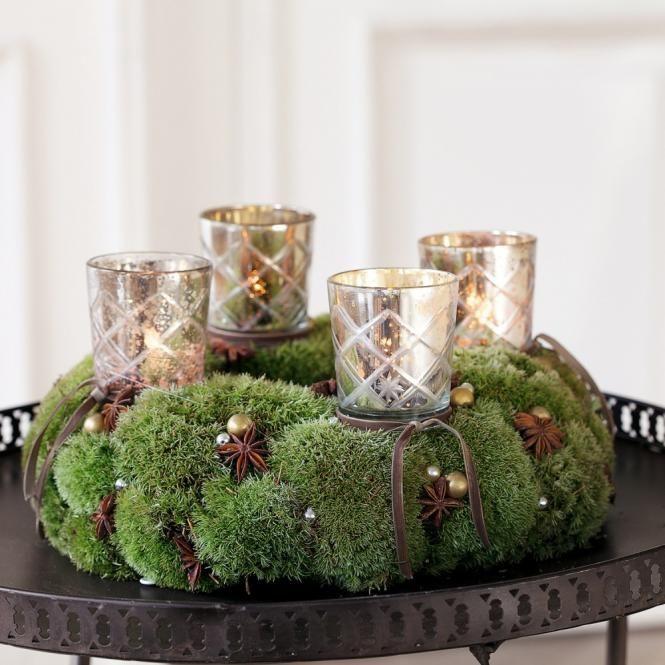 adventskranz aus moos favorite floral items 3. Black Bedroom Furniture Sets. Home Design Ideas
