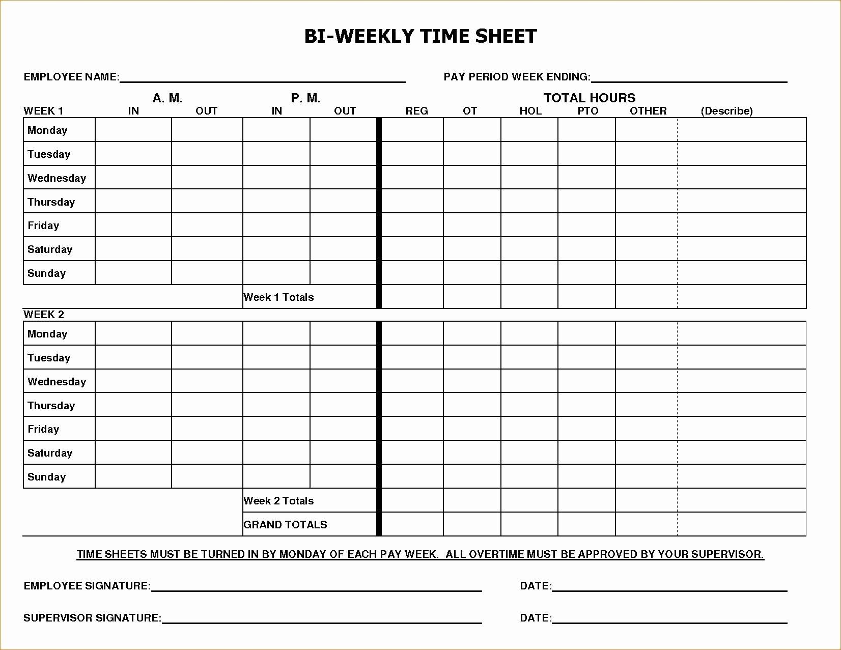 Unique Multiple Employee Weekly Timesheet Template Excel