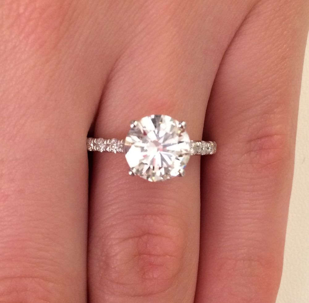 2.70 CT EGL CERTIFIED F/VS1 ROUND CUT DIAMOND ENGAGEMENT RING 14K ...