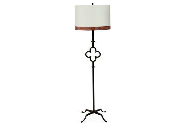Quatrefoil Floor Lamp w/ Custom Shade | lighting | Pinterest ...