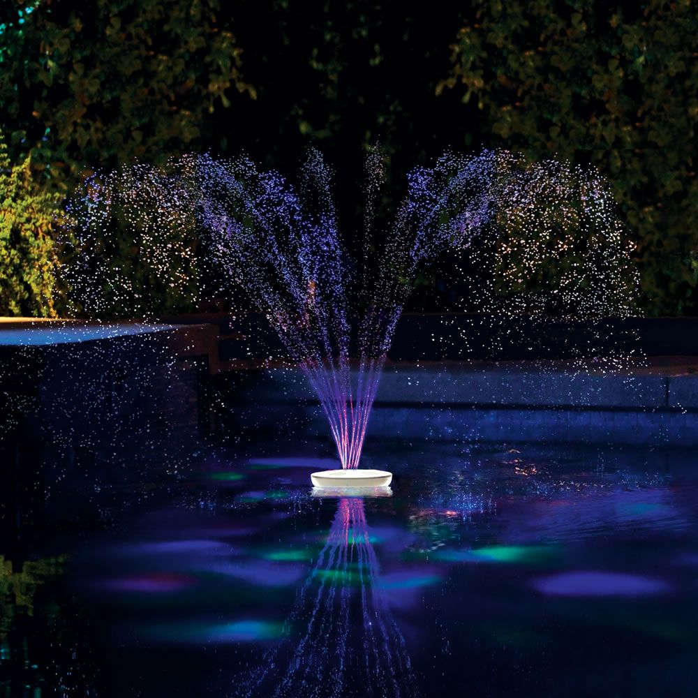 Floating Lighted Pool Fountain Pool Fountain Swimming Pool Fountains Pool Light