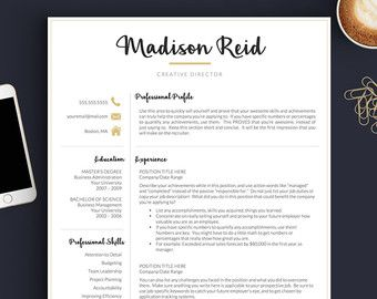 Resume Templates Pages Creative Resume Template For Word And Pages  Modern 13 Page
