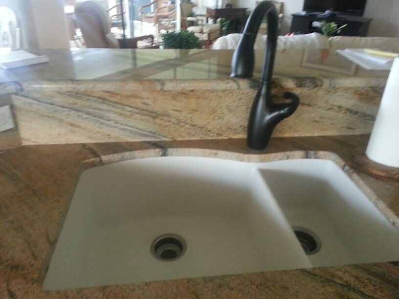Blanco sink and luxart faucet #arrayofcabinets#kithcenideas#sinks ...