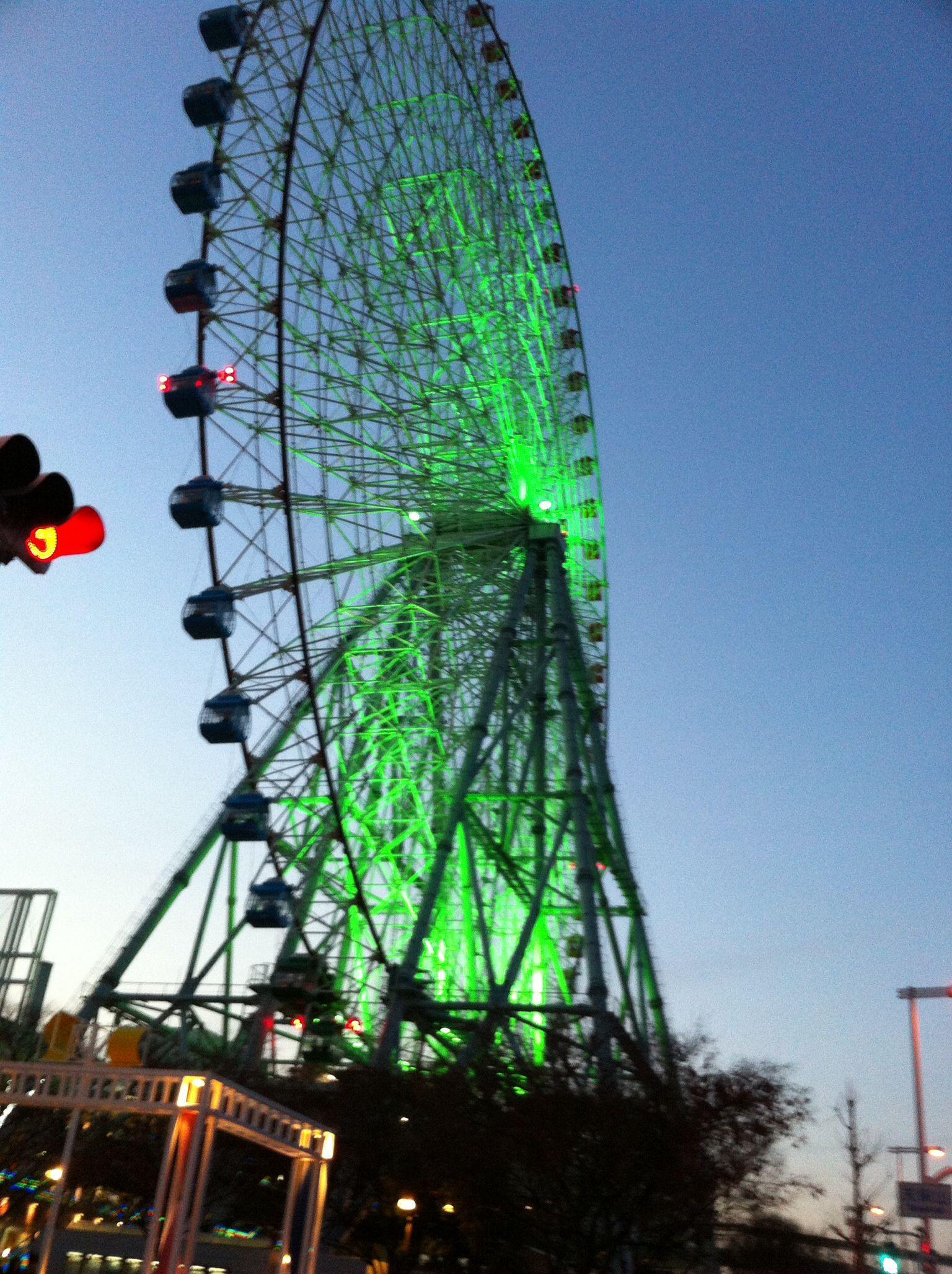 Tempozan Giant Ferris Wheel. Tempozan Harbor Village, Osaka, Japan.