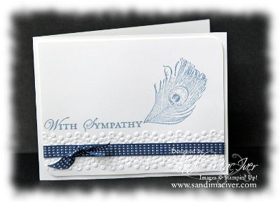 fine feathers stamp set by stampin up, card designed by sandi maciver