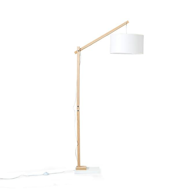 petrus lampadaire style scandinave en bois et tissu h180cm. Black Bedroom Furniture Sets. Home Design Ideas