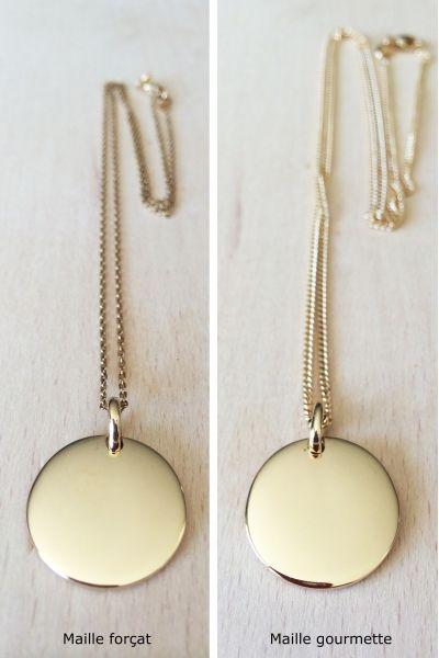 a2fea66507173 Médaille plaqué or sur chaine à graver recto | What I'd like 'n just ...