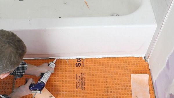Fill Gap With Kerdi Fix Bathroom In 2019 Bathroom