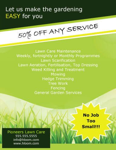 No Job too small Landscaping Flyer Template Landscaping Business - landscaping invoice template free
