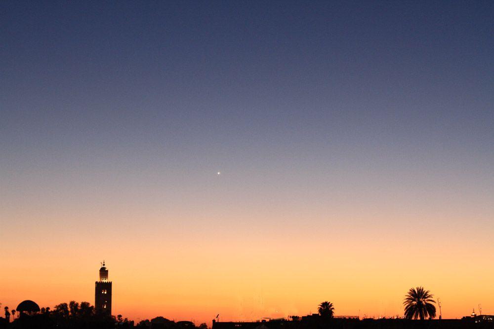 Stunning sunset silhouette - Morocco