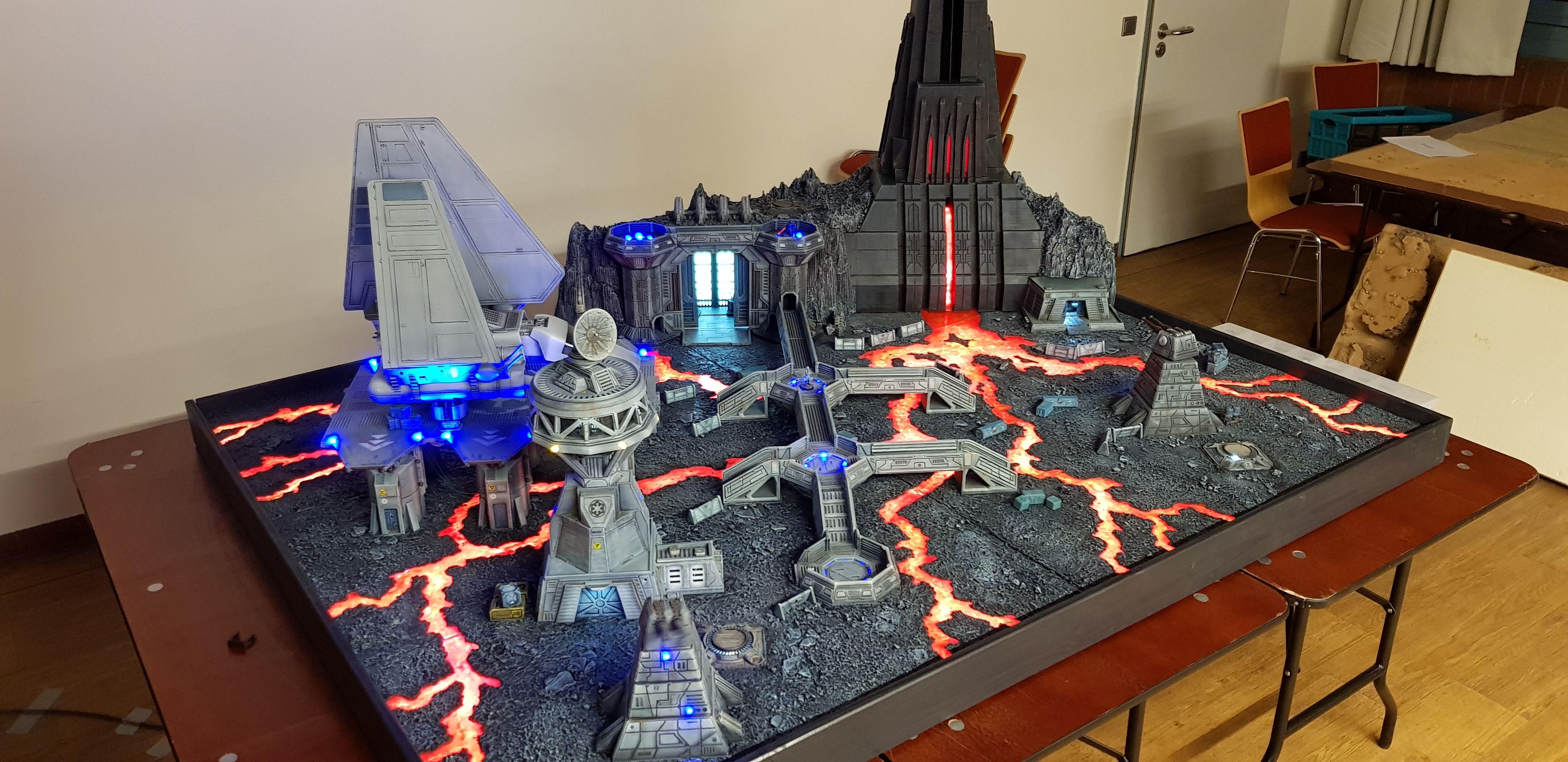 Star Wars Legion Mustafar Table Star Wars Hoth Star Wars Toys Star Wars Action Figures Display