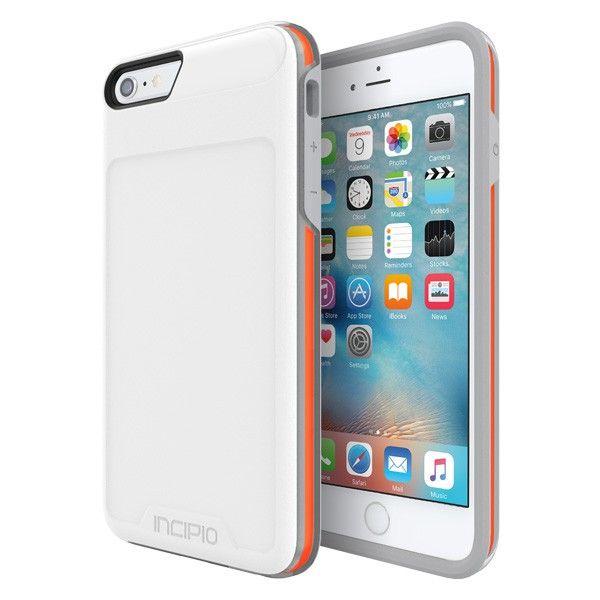 Incipio Performance Series Level 4 White Orange Ultra Rugged Drop Protection For Iphone 6 6s Plus Iphone Smartphone Case Iphone 6 Plus