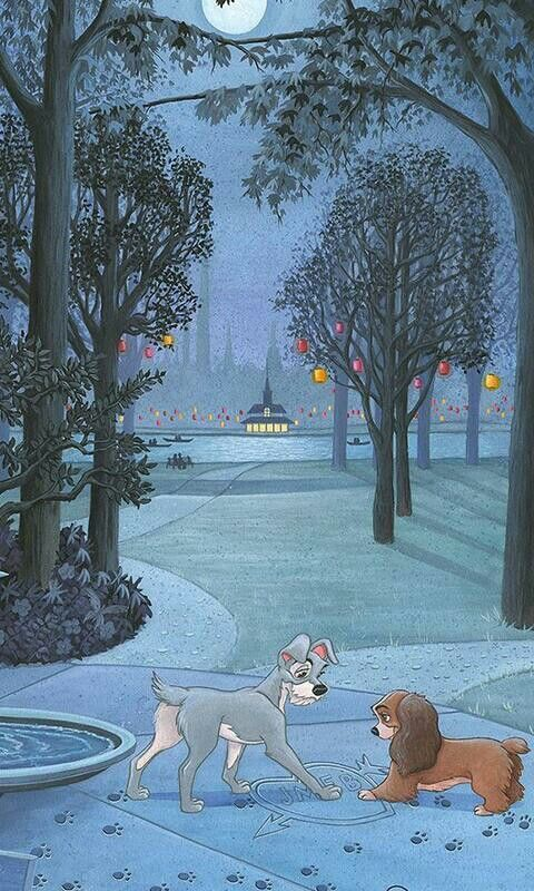 Lady The Tramp Disneyphonebackgrounds In 2020 Disney Phone Wallpaper Cute Disney Wallpaper Disney Wallpaper