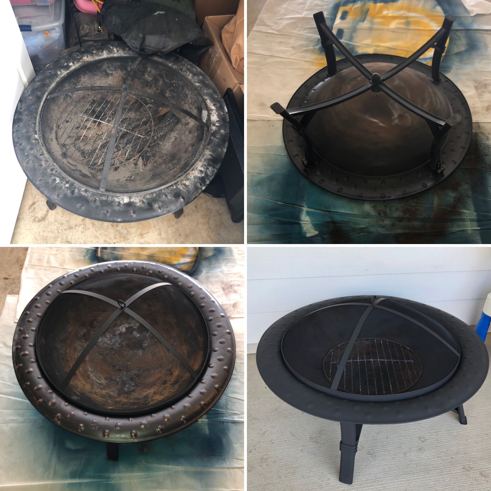 Refurbished Fire Pit High Heat Spray Paint Fire Pit Rustoleum