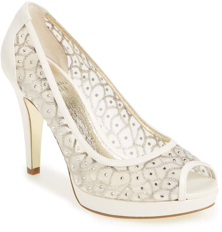 Bridal Shoes At Nordstrom: Adrianna Papell 'Foxy' Crystal Embellished Peeptoe Pump