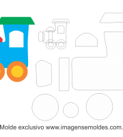 Molde Transportes Trem 2 Para Eva Feltro E Artesanato Molde