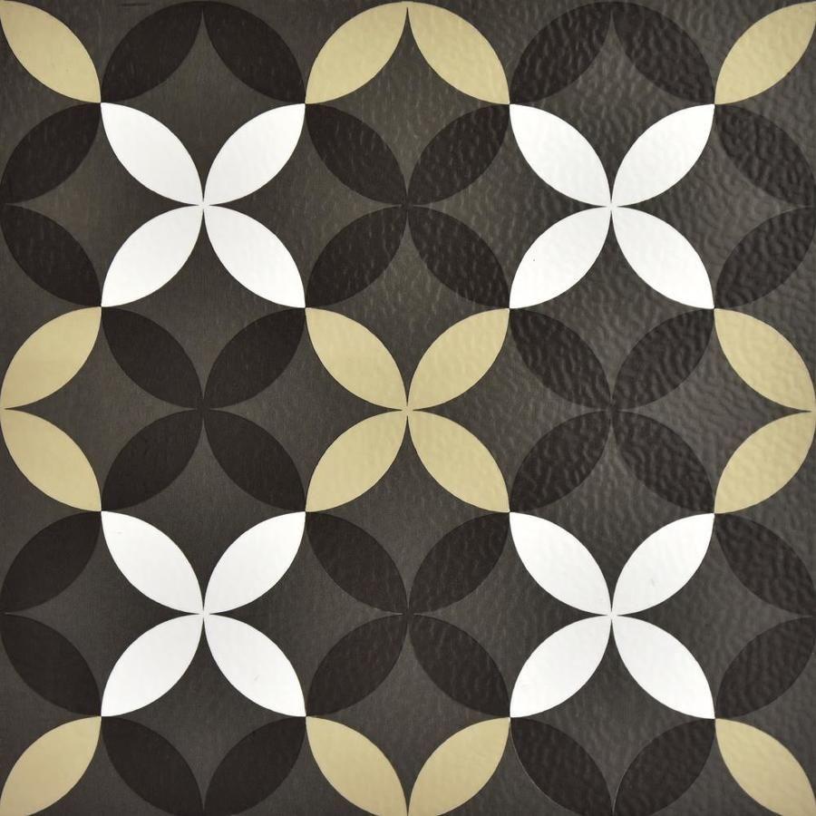 Floorpops 20 Piece 12 In X 12 In Grey Peel And Stick Vinyl Tile Lowes Com Peel And Stick Floor Peel And Stick Vinyl Stick On Tiles