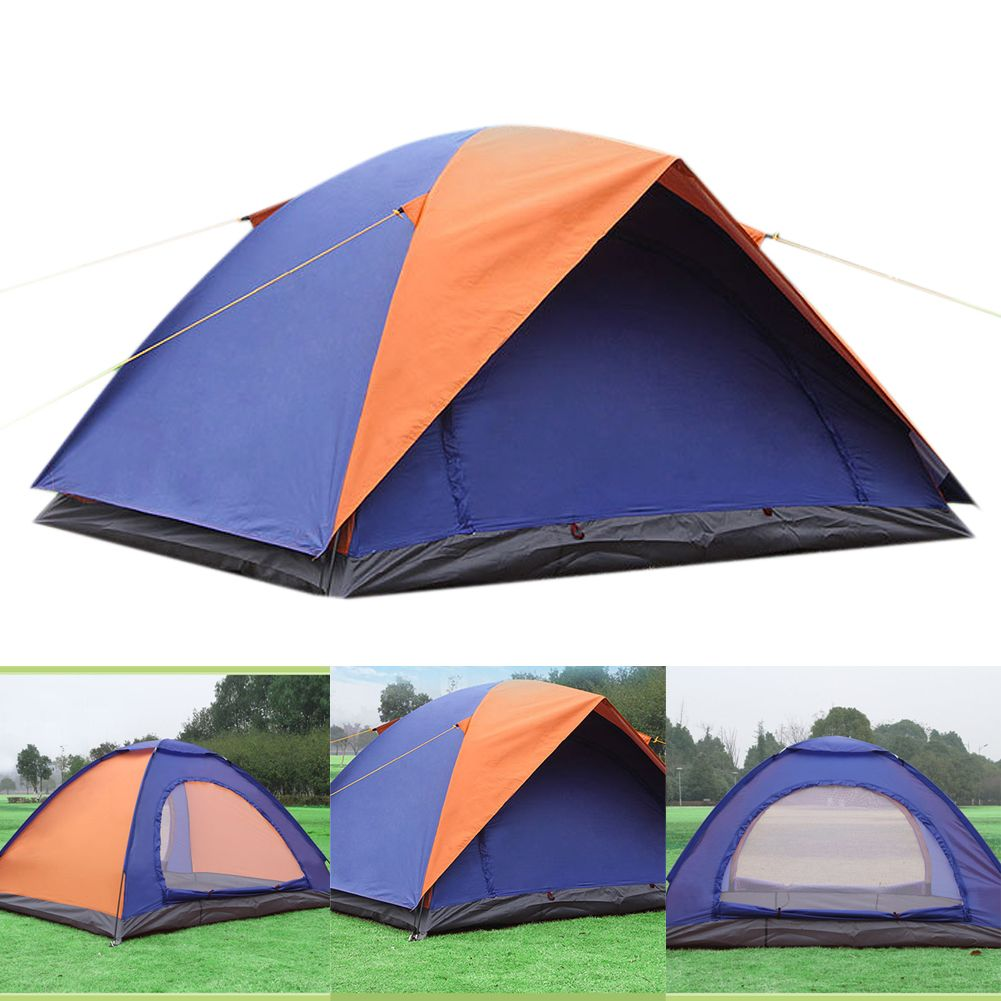 New Tent Camping 2 Person Beach Tents Double Layer Family Waterproof Tent Hiking Fishing Automatic Tents Winter Te Family Tent Camping Tent Camping Winter Tent