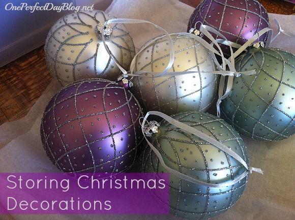 Gemakkelijke ideeën voor het opslaan van ornamenten