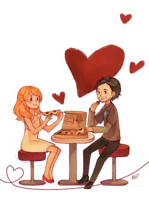 Adorable Art of the Day: Pepper Potts and Tony Stark graphitedoll!