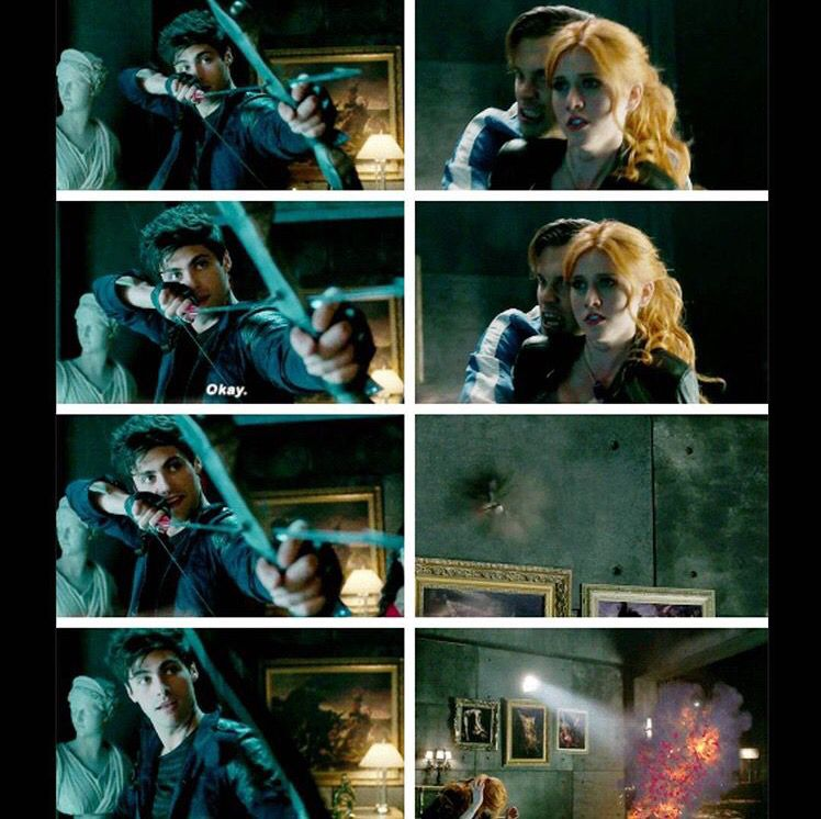 Clary thought he was going to shoot her hehehe