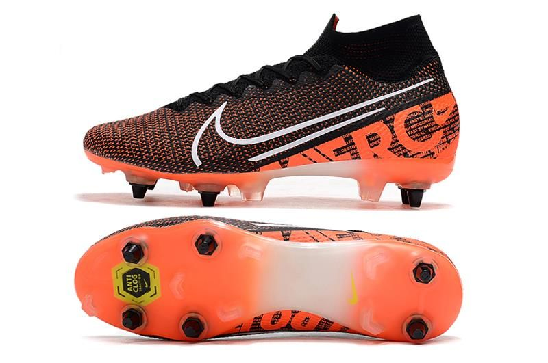 Nike Mercurial Superfly Vii Elite Sg Pro Ac Black White Hyper Crimson In 2020 Superfly Nike Soccer Cleats Nike