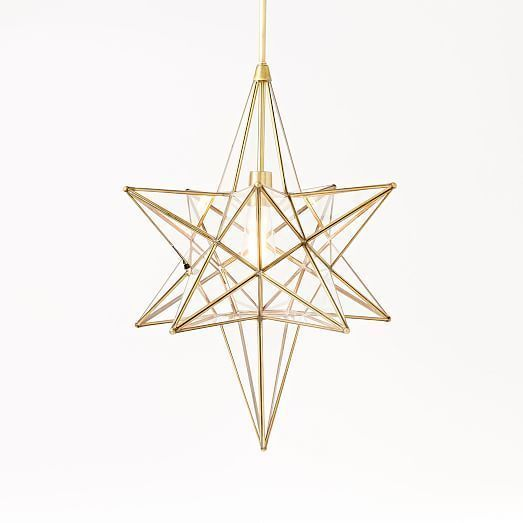 West elm glass moroccan glass star pendant new in original box west elm glass moroccan glass star pendant new in original boxretail 299 mozeypictures Choice Image