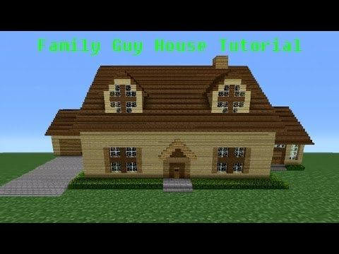 Minecraft Tutorial How To Make The Family Guy House Minecraft House Tutorials Minecraft Tutorial Minecraft House Designs